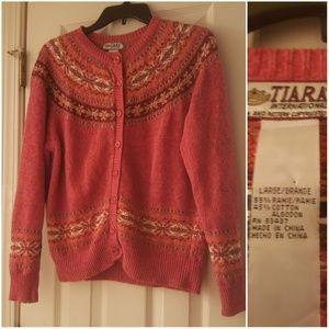 Tiara International Sweater Vintage Coral